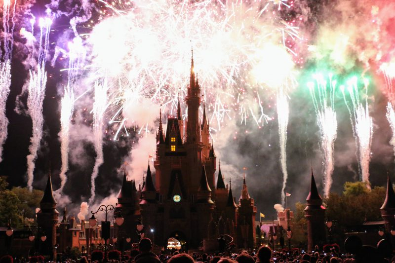 Vuurwerk Disney World Magic Kingdom Orlando