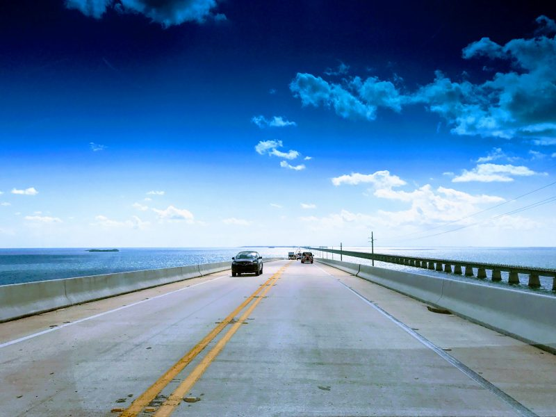 Overseas Highway Florida met de auto