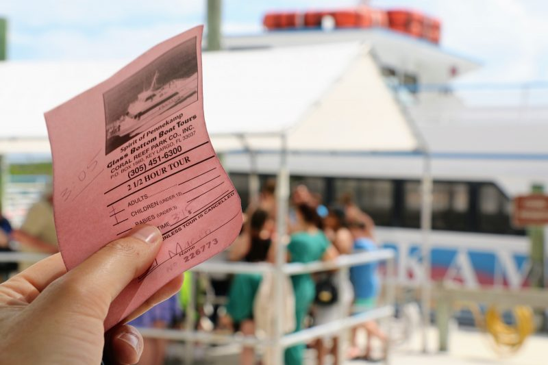 Ticket Glassbottom boat tours